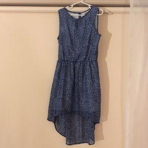Blue Floral Girl's Dress
